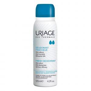 Deodorant spray cu piatra de alaun pentru piele sensibila, 125 ml, Uriage
