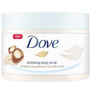 Scrub pentru corp Dove Macadamia & Rice