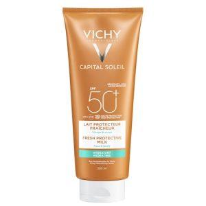 Lapte hidratant Vichy CAPITAL SOLEIL pentru fata si corp SPF50, 300 ml