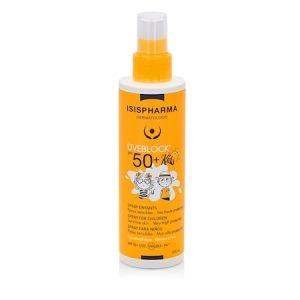 Spray de protectie solara foarte ridicata pentru copii, UVEBLOCK® SPF 50+ SPRAY KIDS