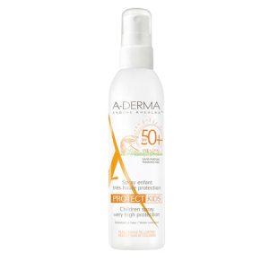 Spray cu protectie solara A-Derma Protect Kids pentru copii SPF 50+
